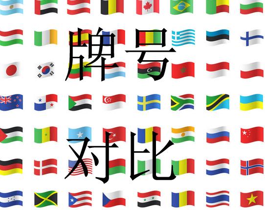 各国标样牌号对比
